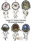 """Large Dream Catchers With Leather, Beads & Feathers, 13"""",  22 Different Designs!"""