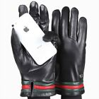 ELMA Men's Real Nappa Leather Touchscreen Gloves w/ Bright color cuff EM015NR1