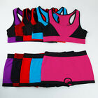 Lot Sexy Sports Set Padded Removable Bra&Boyshort Shorts Seamless MIX19-24