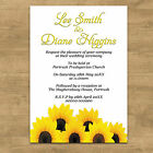 Personalised Day & Evening Wedding Invitations Invites + Envelopes Sunflowers