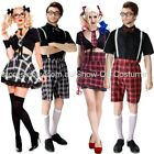 SCHOOL GIRL WOMENS  FANCY DRESS  COSTUME