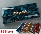 1PC Pearl Gold Metal Geometric Lady Wallet Card Holder Coin Bag Purse
