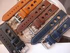 THICK LEATHER STRAPS WILL LOOK GREAT ON YOUR VINTAGE HEUER WATCH DIVE/ MILITARY