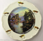 China Plate Featuring Fly Fishing Scene