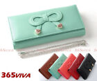 1PC Bow Metal Heart Lady Wallet Metal Clutch Shoulder Hand Party Bag
