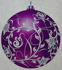 "Needlepoint canvas ""Christmas Ornament Purple Blossom"""