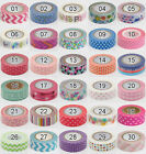 Lot Of 10 PCS 1.5cm×10M DIY paper Sticky Adhesive Sticker Decorative Washi Tape