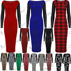 Womens Long Sleeves PVC Leather Look Bodycon Stretch Ladies Long Top Midi Dress