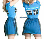 DOCTOR WHO TARDIS FIT & FLARE MINI DRESS WITH TULLE OVER LAYERED SKIRT FREE SHIP