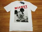 Mickey Mouse Adult White Cotton T-Shirt NWT Disney Size L