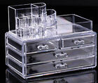 New Cosmetic organizer makeup jewelry drawers Display Box Cabinet Acrylic Case