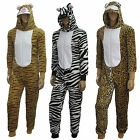 Unisex Mens Ladies Furry Adult Animal Onesie Unisex Playsuit Fancy Dress Pajama