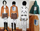 Attack on Titan Shingeki no Kyojin Levi Rivaille Cosplay Costume Fullset New