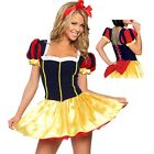 Deluxe Sexy Snow White Fairytale Womans Fancy Dress Costume Party Outfit Disney