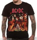AC DC Highway To Hell T Shirt OFFICIAL Hellfire M XL Black Angus Young Bon Scott