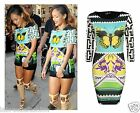 LADIES CELEBRITY BUTTERFLY PRINT 3/4 SLEEVE WOMEN BODYCON SHORT MINI PARTY DRESS