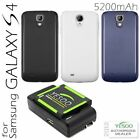 YESOO Samsung Galaxy S4 SIV I9500 Extended Battery + Cover + Charger Kit 5200mAh