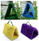 New Happy Hut Bird Hammock Hanging Cage Plush Snuggle Tent Bed Parrot Toy Toys