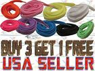 "FLAT SHOE LACES  45"" Fashion Athletic Sneaker BOAT STRINGS TIES 5/16"" USA SELLER"