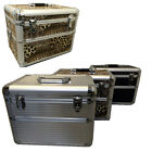 LOCKABLE ALUMINIUM MAKE UP VANITY BEAUTY CASE COSMETIC BOX NAIL SALON BAG