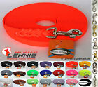 BioThane Schleppleine 12mm/13mm Neon-Orange (Signalorange) GEFLOCHTEN 1-30m