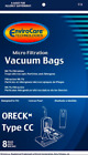 Oreck Vacuum Bags Type CC Fits Oreck XL Upright Vacuums Replaces Part  CCPK8DW