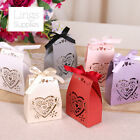Satchel Shape Love Heart Laser Cut Favour Boxes with Ribbon Wedding Party Decor