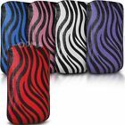 Case cover for Apple iphone 5, PU Leather Pull tab Pouch Zebra Design - (L)