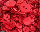 Red Mixed Assorted Plastic Buttons 25g 50g 100g Scrapbook Craft Sewing