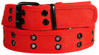 Men Women Unisex 2 Holes Row Grommet Stitched Canvas Fabric Military Web Belt