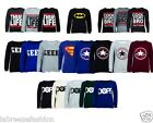 Superman Jumper Sweatshirt Superwoman Logo Top Sweater Casual Womens Ladies 6-12