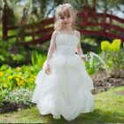 Children's Princess Flower Girl Bridesmaid Ball Gown Party Dress White