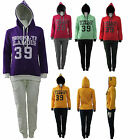 Womens Ladies Girl Jacket Hooded Hoody Jogger Tracksuit Top Bottom Pant Size UK