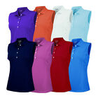 New Adidas Women's ClimaLite Sleeveless Solid Polo - Multiple Sizes & Colors