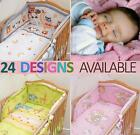 6 Piece/pcs Baby Bedding Set Nursery Bumper to fit Cot 120x60/ Cot Bed 140x70