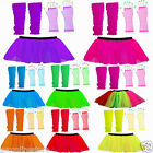 LABREEZE CHRISTMAS TUTU SKIRT NEON GLOVES XMAS WARMERS DANCEWEAR HEN NIGHT PARTY
