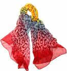 Ladies Long Stylish Silk Chiffon Scarf Stole Wrap *UK Seller*Various Scarves