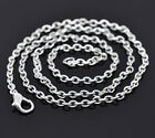 """Wholesale HOT! Jewelry Link Chain Necklaces Lobster Clasp Silver Plated 18"""""""