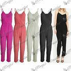 WomensThin Straps Ladies Playsuit All One Full Piece Rushed Trousers Jumpsuit