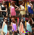 Summer sexy vogue ladies sleeveless chiffon casual small vest top loose blouse