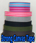 Strong Thick Cotton Color Webbing Bag Canvas Strapping Belting Triming Handles
