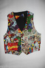 Novelty BATMAN, SUPERMAN,MARVEL Vest and Bow Tie Set size S-3XL