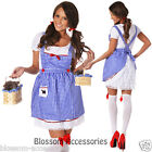 I54 Ladies Wizard of OZ Dorothy Halloween Fancy Dress Storybook Costume Outfit