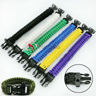 Survival Bracelet With Whistle 550 Paracord  Cuff Survival Whistle Self-rescue
