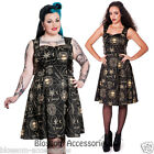 RKP21 Hell Bunny Tabitha Dress Stars Moons Shapes Rockabilly Pinup 50's Vintage