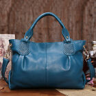 New Genuine Leather Real Leather Tote Shoulder Bag Purse Hobo Handbag B1298