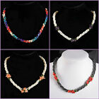 Hot Selling New Fashion shell hematite coral beaded necklace 17 - 18.5 ""