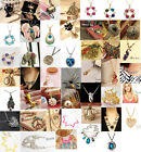 Fashion Charm jewelry Crystal vintage long Pendant Chunky Chain Necklace 03