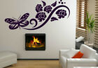 Butterfly And Flowers Art Wall Decoration Sticker Wall Tatoo. 60cm x 150cm