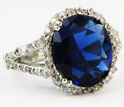 Size 6,7,8,9,10 Jewelry Woman's 4.8CT Sapphire 10KT White Gold Filled Ring